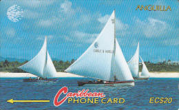 ANGUILLA(GPT) - Sailing Boat, CN : 5CAGB, Tirage 5000, Used - Anguilla