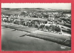 CPSM   Grand Formant - Mers Les Bains    -(Somme) - Vue Aérienne De La Plage Vers La Gare - Mers Les Bains