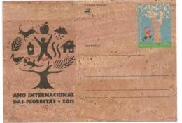 Portugal 2011 - Cork Stationery - International Year Of Forests - Postwaardestukken