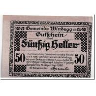 Billet, Autriche, Windegg, 50 Heller, Paysage, 1920, 1920-05-15, SPL, Mehl:1241 - Autriche