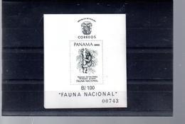 PANAMA BLOC 33** SUR LA FAUNE LOCALE  LE PARESSEUX - Panama