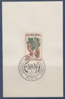 = Exposition Philatélique Europa 1957 Paris 16 Septembre 1957 Sur Fragment N°1122 - 1957