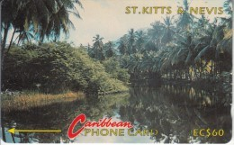 ST. KITTS & NEVIS(GPT) - River Scene, CN : 5CSKC, Tirage 5250, Used - St. Kitts En Nevis