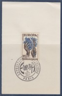 = Exposition Philatélique Europa 1957 Paris 16 Septembre 1957 Sur Fragment N°1123 - Europa-CEPT