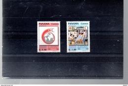 PANAMA 1055/1056** SUR LE 125E ANNIVERSAIRE DE LA CROIX ROUGE - Panama