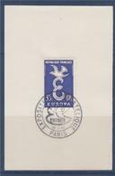 = Exposition Philatélique Europa 1958 Paris 13 Septembre 1958 Sur Fragment N°1174 - 1958