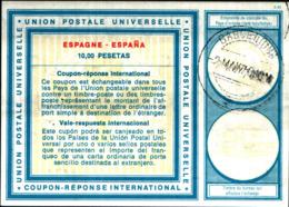 7049b) SPAGNA COUPON-RESPONSE-INTERNATIONAL-DA 1O PESETAS-22-3-1970- UsatO - Spagna