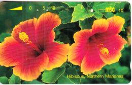 NORTHERN MARIANAS - Hibiscus, Tirage 10000, 12/93, Used - Noordelijke Marianen