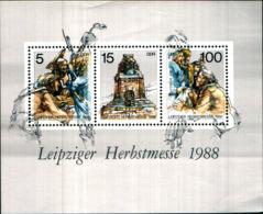 7050b) DDR 1988, Blocco 95 **, MER. 3193-3195 **, Lipsia Fiera Autunno - Nuovi