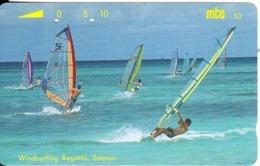 NORTHERN MARIANAS - Windsurfing Regatta/Saipan, Tirage 10000, 12/93, Used - Noordelijke Marianen