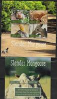 LIBERIA, 2019, MNH, FAUNA, MONGOOSE, SLENDER MONGOOSE, SHEETLET +S/SHEET - Timbres