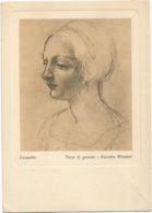 W4683 Leonardo - Testa Di Giovane - Raccolta Windsor - Dipinto Paint Peinture / Non Viaggiata - Pittura & Quadri