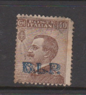 Italy BLP 13  1923  King Victor Emmanuel ,Overprinted BLP,40c Brown,short Perforation,used, - Stamps For Advertising Covers (BLP)