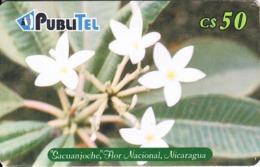 "NICARAGUA(chip) - National Flower ""Sacuanjoche"", Used - Nicaragua"