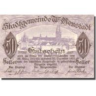 Billet, Autriche, Neustadt, 50 Heller, Château 1920-12-31, SPL Mehl:FS 1230b - Autriche