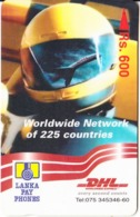 SRI LANKA(GPT) - DHL(Rs. 600), CN : 2SRLF/B, Used - Sri Lanka (Ceylon)