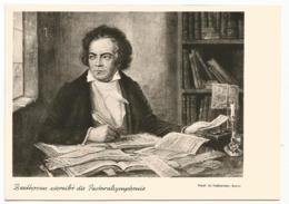 W4692 Beethoven Schreibt Die Pastoralsymphonie / Non Viaggiata - Zangers En Musicus