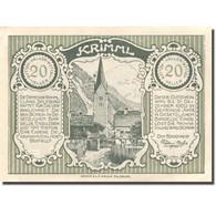 Billet, Autriche, Krimml, 20 Heller, Eglise, 1920, 1920-12-31, SPL, Mehl:FS 483c - Autriche