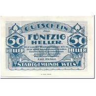 Billet, Autriche, Wels, 50 Heller, Paysage, SPL, Mehl:1167 II - Autriche