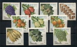 Yemen 1967 Mi#551-560 Fruit MLH - Yemen