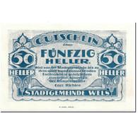 Billet, Autriche, Wels, 50 Heller, Batiment, SPL, Mehl:1167 II - Autriche