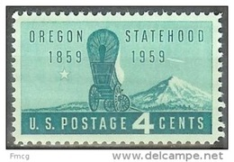 1959 4 Cents Oregon, Mint Never Hinged - Verenigde Staten