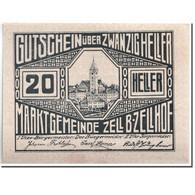 Billet, Autriche, Zell B. Zellhof, 20 Heller, Paysage, 1920, 1920-12-31, SPL - Autriche