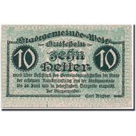 Billet, Autriche, Wels, 10 Heller, Château, 1920, 1920-06-30, SPL, Mehl:1167 I - Autriche