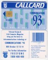 Ireland  Phonecard -  Communications '93 (Chip GP1) - Ierland