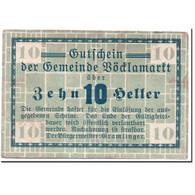 Billet, Autriche, Vöcklamarkt, 10 Heller, Graphique, SPL, Mehl:1117Ia - Autriche