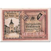 Billet, Autriche, Vocklabruck, 20 Heller, Paysage, 1920, 1920-03-17, SPL - Autriche