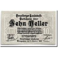Billet, Autriche, Vorarlberger, 10 Heller, Ecusson, 1919, 1919-10-01, SPL - Autriche