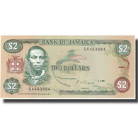 Billet, Jamaica, 2 Dollars, 1985-1993, KM:69d, SPL+ - Jamaique