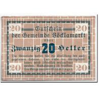 Billet, Autriche, Vöcklamarkt, 20 Heller, Graphique, SPL, Mehl:1117Ia - Autriche