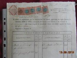 Italie 1872...Intestazioni Catastali - Italie