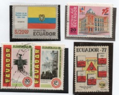 Ecuador1096,1170,1172/73 Ss,A 645 Usados Yvert Cotz. € 1,8 - Ecuador