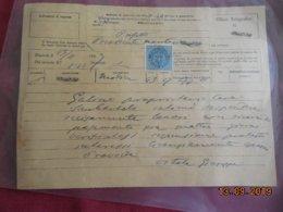 Italie 1889.. Ufficio Telegraphico De Siracusa Avec Timbre Du Service Telegraphique - Vieux Papiers