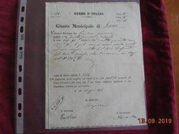 Giunta Municipale Di Learise De 1868 Avec Timbres De Service Au Dos - Vieux Papiers