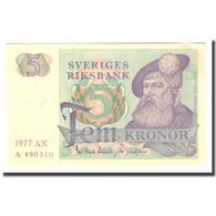 Billet, Suède, 5 Kronor, 1977, 1977, KM:51d, TTB - Suède