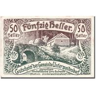 Billet, Autriche, Unterweitersdorf, 50 Heller, Paysage, 1920, 1920-05-15, SPL - Autriche