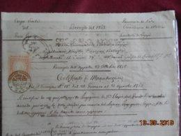 Italie 1863 Certificato Di Manutenzione - Non Classés