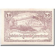 Billet, Autriche, Unterweitersdorf, 20 Heller, Paysage, 1920, 1920-05-15, SPL - Autriche