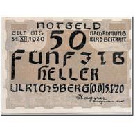 Billet, Autriche, Ulrichsberg, 50 Heller, Paysage, 1920, 1920-05-05, SPL - Autriche