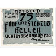 Billet, Autriche, Ulrichsberg, 75 Heller, Personnage, 1920, 1920-05-05, SPL - Autriche