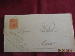 Lettre De 1887 De Bitonto à Destination De Bari - 1878-00 Umberto I
