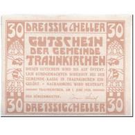 Billet, Autriche, Traunkirchen, 30 Heller, Personnage, 1920, 1920-06-01, SPL - Autriche