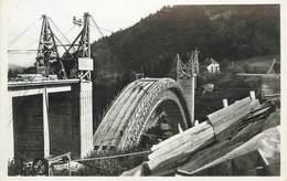""".CPSM  FRANCE 74 """"Construction Du Nouveau Pont De La Caille"""" - France"""