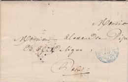 LAC De Paris (75) Pour Paris - 29 Juin 1839 - Cachet Port Dû Bleu + Levée + Timbre à Date - Ministère Guerre 65ème Ligne - 1801-1848: Precursori XIX
