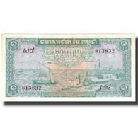 Billet, Cambodge, 1 Riel, UNDATED (1956-75), KM:4c, TTB+ - Cambodge