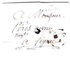 LAC De Grasse (06) Pour Figeac (46) - 20 Avril 1806 - Marque Linéaire 78 GRASSE + Taxe Manuelle 7 - 1801-1848: Voorlopers XIX